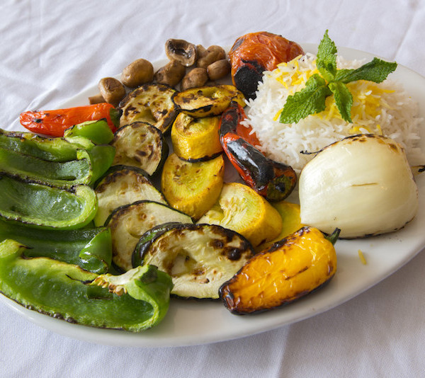 Veggie Kabob- Served With Rice (when available)